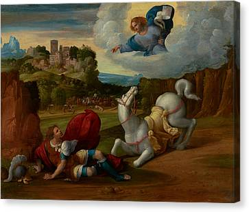 The Conversion Of Saint Paul Canvas Print by Mountain Dreams