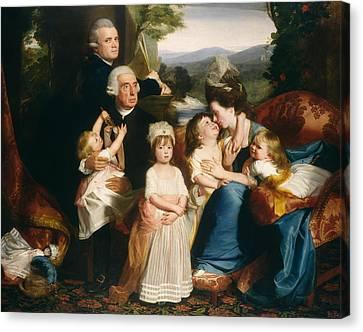 The Copley Family Canvas Print by John Singleton Copley