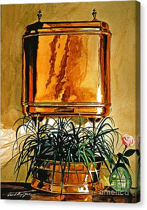 The Copper Lavabo Canvas Print by David Lloyd Glover
