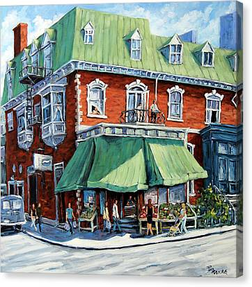 The Corner Market Canvas Print by Richard T Pranke