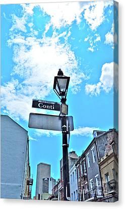 The Corner Of Conti Canvas Print