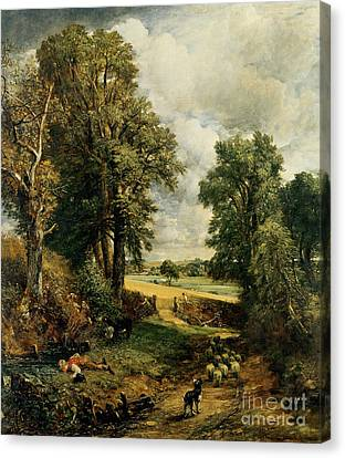 Cornfield Canvas Print - The Cornfield by John Constable