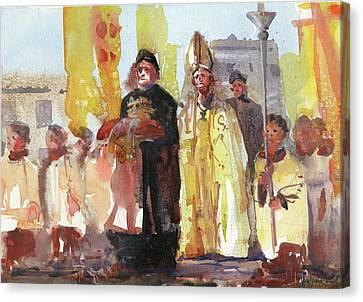 Pope Canvas Print - The Coronation by Kristina Vardazaryan