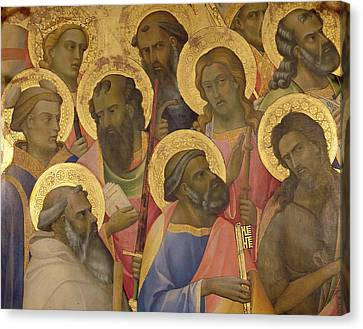 The Coronation Of The Virgin Canvas Print by Lorenzo Monaco