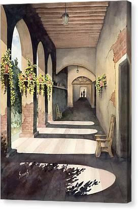 The Corridor 2 Canvas Print by Sam Sidders