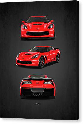 The Corvette Z06 Canvas Print by Mark Rogan