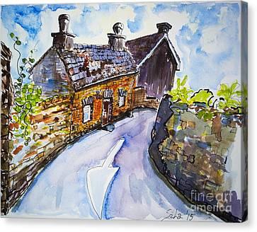 The Cottage Kinsale Canvas Print by Lidija Ivanek - SiLa