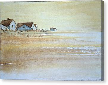 the cottages on BH Island Canvas Print by Amy Bernays