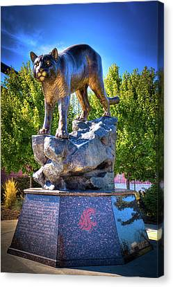 The Cougar Pride Sculpture Canvas Print by David Patterson