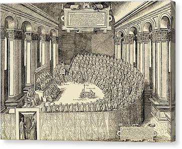 The Council Of Trent, 1563. The Canvas Print by Vintage Design Pics