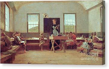 The Country School Canvas Print by Winslow Homer