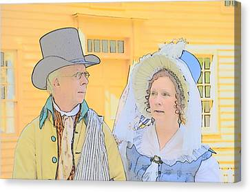 Colonial Man Canvas Print - The Couple by Robert Nelson