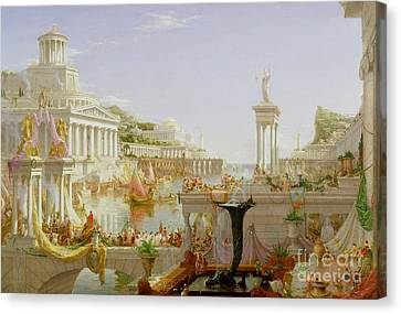 Oil On Canvas Print - The Course Of Empire - The Consummation Of The Empire by Thomas Cole