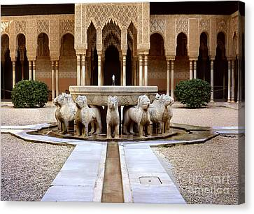 The Court Of The Lions Alhambra Canvas Print by Guido Montanes Castillo