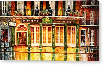 The Court Of Two Sisters On Royal Canvas Print by Diane Millsap