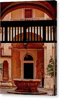 The Court Yard Malta Canvas Print