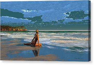 The Courtship Of Sand Canvas Print by Dieter Carlton