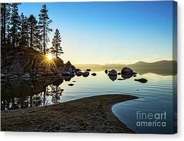 Water Reflections Canvas Print - The Cove At Sand Harbor by Jamie Pham