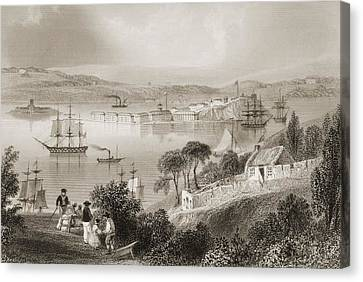 Cork Canvas Print - The Cove Of Cork, From Admiralty Grand by Vintage Design Pics
