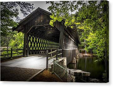 Barn Storm Canvas Print - The Coverd Bridge by Marvin Spates