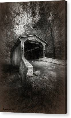 The Covered Bridge Canvas Print by Marvin Spates