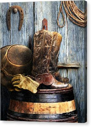 The Cowboy Canvas Print by Bill Fleming