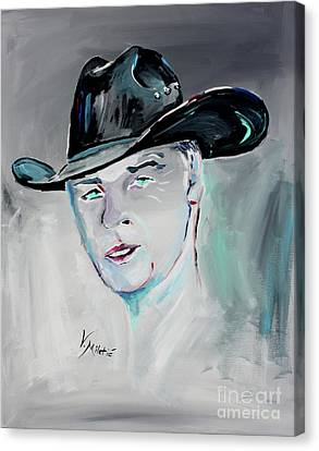 The Cowboy - Cowboy Art By Valentina Miletic Canvas Print by Valentina Miletic