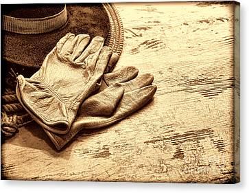 The Cowboy Gloves Canvas Print