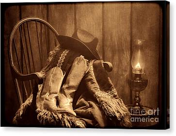 The Cowgirl Rest Canvas Print by American West Legend By Olivier Le Queinec
