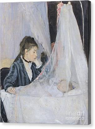 The Cradle Canvas Print by Berthe Morisot