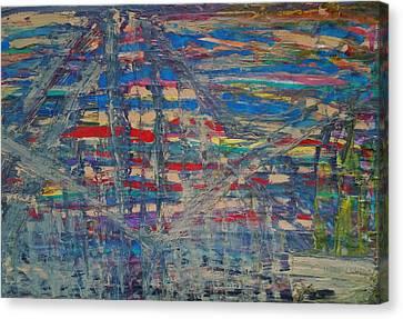 The Crane Operators Canvas Print by Ronald Carlino Jr