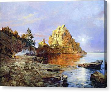 The Crest Of Rock Impressionism Canvas Print by Georgiana Romanovna