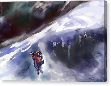 The Crevasse Bridge Canvas Print