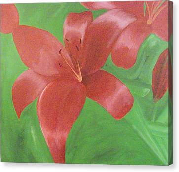 Canvas Print - The Crimson Lilly by James Buchanan