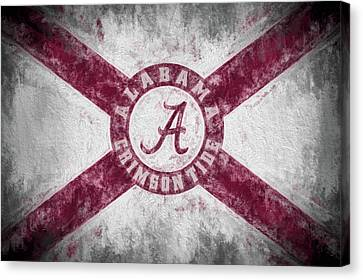 The Crimson Tide State Flag Canvas Print