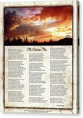 The Crimson Tree Poem Canvas Print by Gary Bodnar