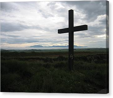 The Cross Canvas Print by Oliver Johnston