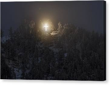 Christian Canvas Print - The Cross On Sundance Mountain by David M Porter