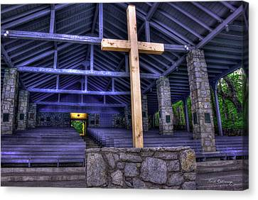 The Nature Center Canvas Print - The Cross Pretty Place Chapel Art by Reid Callaway