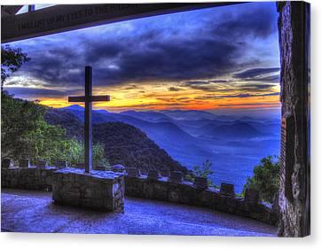The Cross Pretty Place Chapel Canvas Print