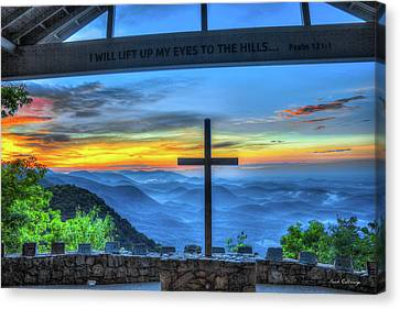 The Cross Sunrise At Pretty Place Chapel Canvas Print