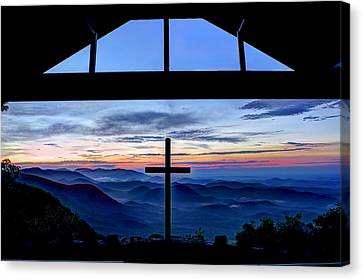The Cross Unmerited Love Pretty Place Chapel Canvas Print by Reid Callaway