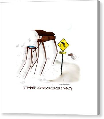 Shirt Canvas Print - The Crossing Se by Mike McGlothlen