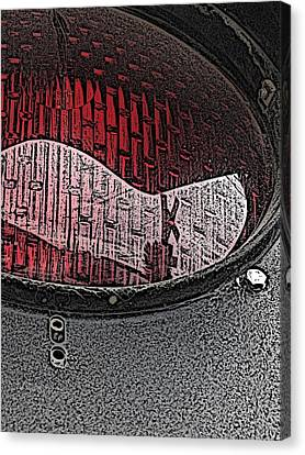 Train Crossing Canvas Print - The Crossing by Tim Allen