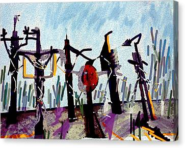 The Crucified...after Picasso Canvas Print by Paul Sutcliffe