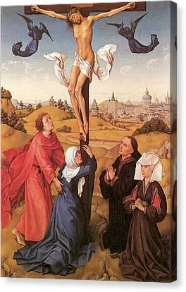 The Crucifixion By Van Der Weyden Canvas Print by Rogier Van Der Weyden