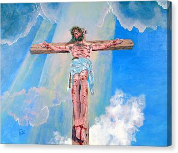 The Crucifixion Daytime Canvas Print by Stan Hamilton