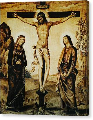 The Crucifixion Canvas Print by Dino Muradian