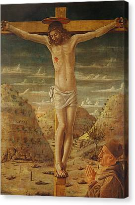 The Crucifixion Canvas Print by Giovanni Bellini