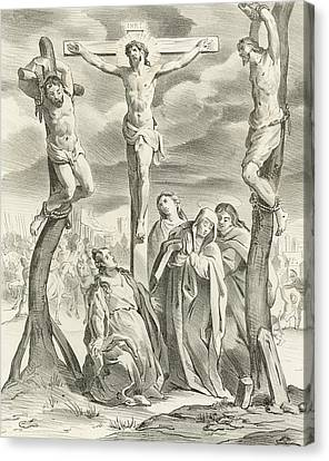 The Crucifixion Canvas Print by Hendrik van the Elder Balen